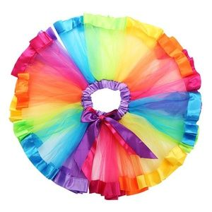 🌸 Toddler Rainbow Tutu Skirt, Party, Photography